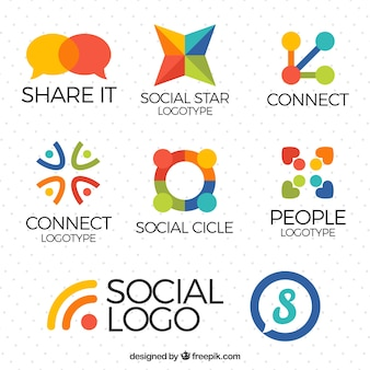 Paquet de logos des médias sociaux