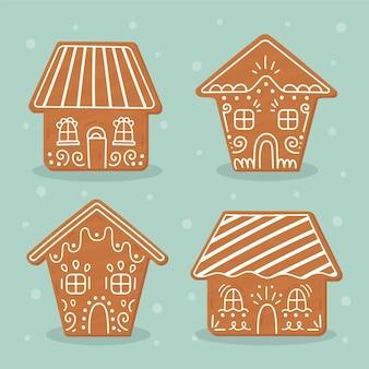 Paquet de maisons en pain d'épice