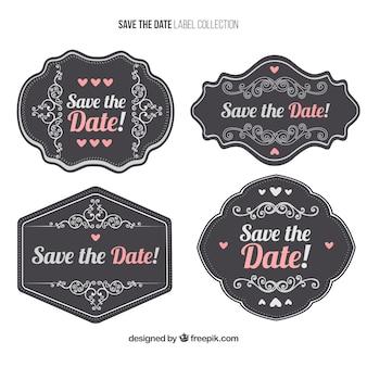 Paquet de mariage vintage stickers décoratifs