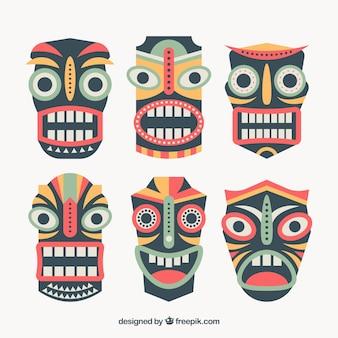 Paquet de masques ethniques hawaiens