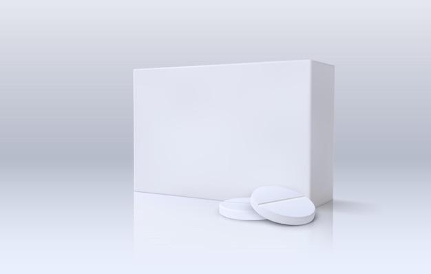 Paquet de médecine avec des comprimés