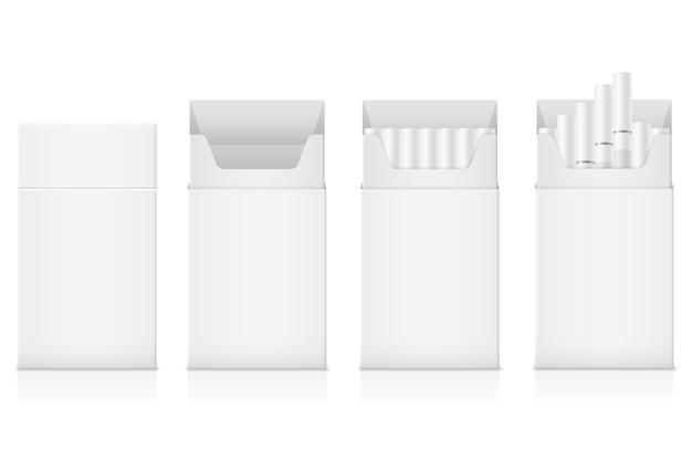 Paquet de modèle de cigarettes avec filtre blanc