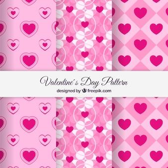 Paquet de motif rose saint-valentin
