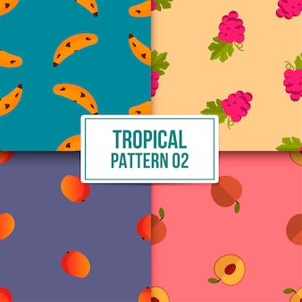 Paquet motif tropical