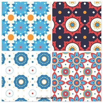 Paquet de motifs en mosaïque de formes géométriques