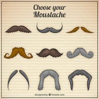 Paquet de moustaches élégantes
