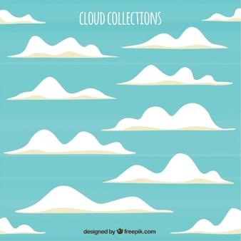 Paquet de nuages blancs