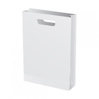 Paquet de papier pour la restauration rapide. illustration de modèle réaliste
