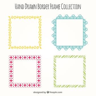 Paquet de quatre cadres décoratifs colorés