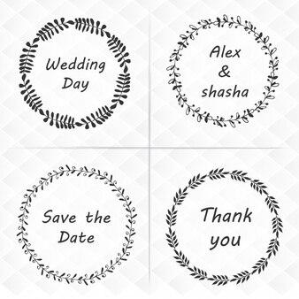 Paquet de quatre guirlande florale de mariage