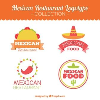 Paquet de restaurants mexicain logotypes