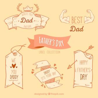 Paquet de rubans décoratifs vintage pour la fête des pères