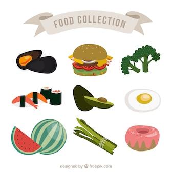 Paquet de savoureux produits alimentaires
