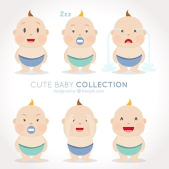 Paquet de six bébés mignons