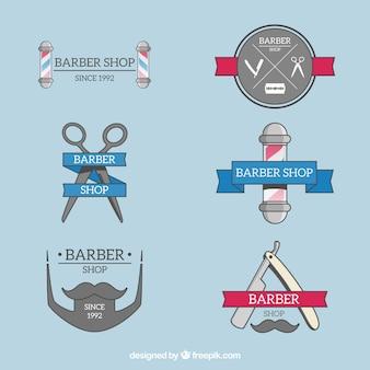 Paquet de six logos pour salon de coiffure