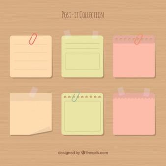Paquet de six notes adhésives