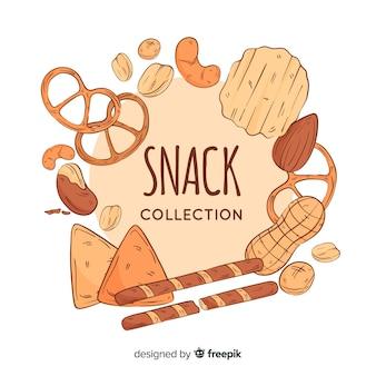 Paquet de snacks savoureux