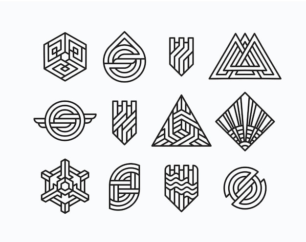 Paquet de symboles géométriques abstraits