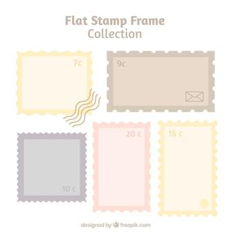 Paquet de timbres en design plat