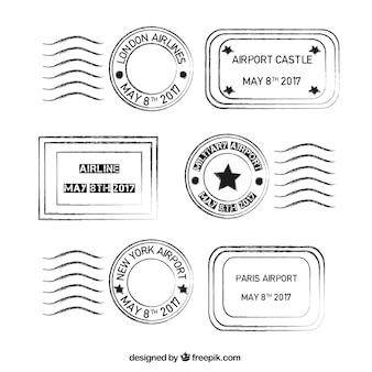 Paquet de timbres vintage