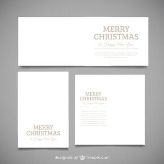 Paquet de trois cartes merry christmas avec différentes tailles