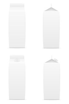 Paquet vide blanc avec illustration vectorielle de jus