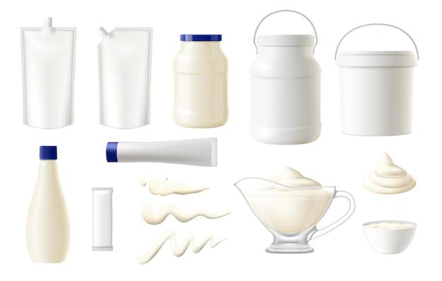 Paquets de nourriture mayonnaise