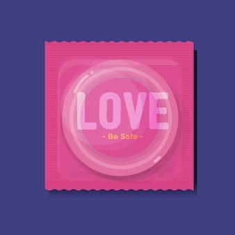 Paquets de préservatifs avec