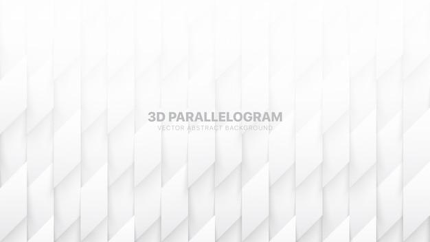 Parallélogramme 3d, motif abstrait blanc