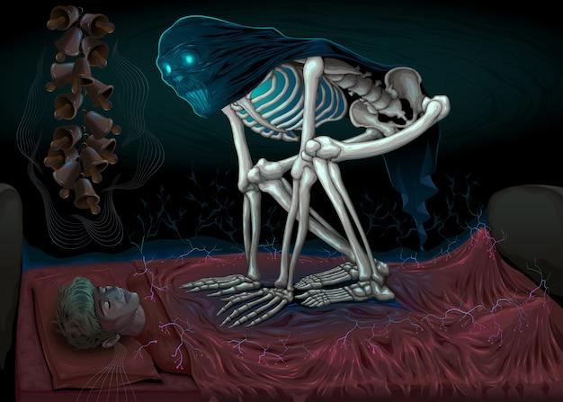 La paralysie du sommeil demon dans la chambre