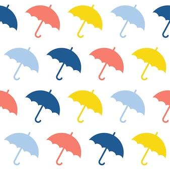 Parapluie fait main abstrait et goutte de fond transparente. papier peint artisanal enfantin pour carte de conception, couche pour bébé, couche-culotte, scrapbooking, papier d'emballage de vacances, textile, impression de sac, t-shirt, etc.