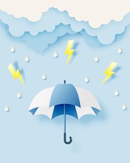 Parapluie mignon pour la saison de la mousson