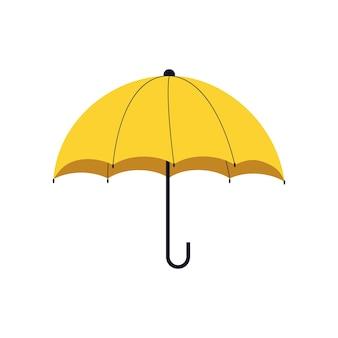 Parapluie ouvert jaune