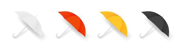 Parapluie réaliste. accessoires d'automne colorés