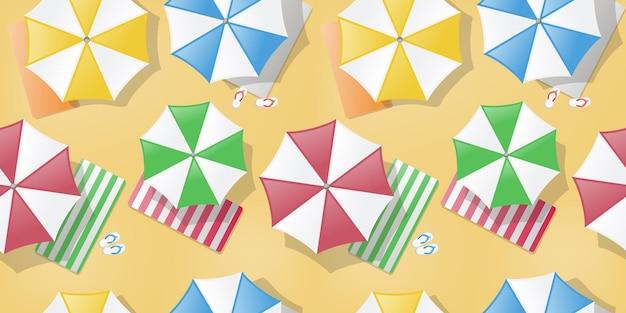 Parapluies dans le modèle sans couture de plage
