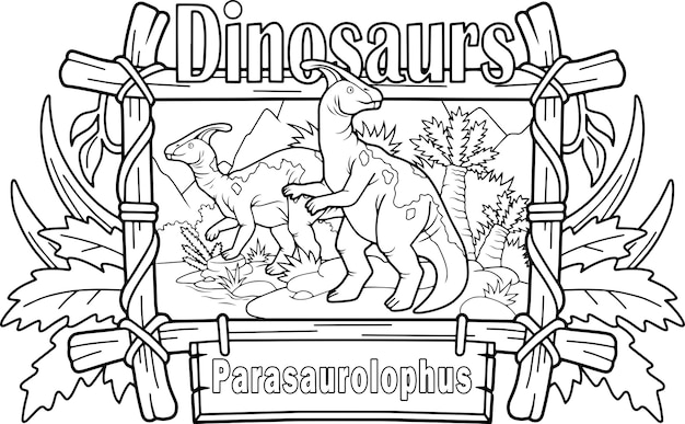Parasaurolophus De Dinosaure Préhistorique Vecteur Premium