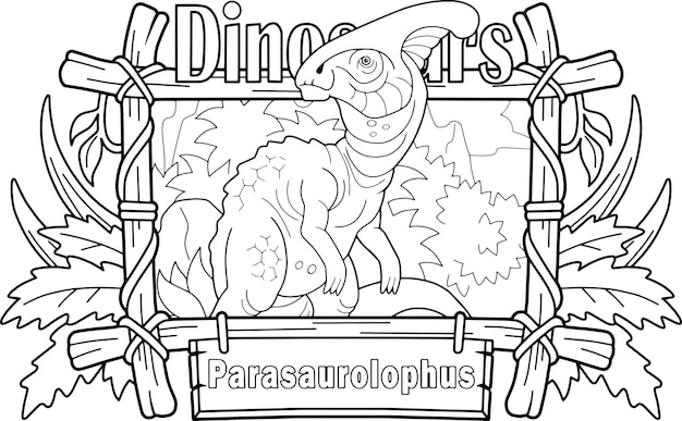 Parasaurolophus de dinosaure