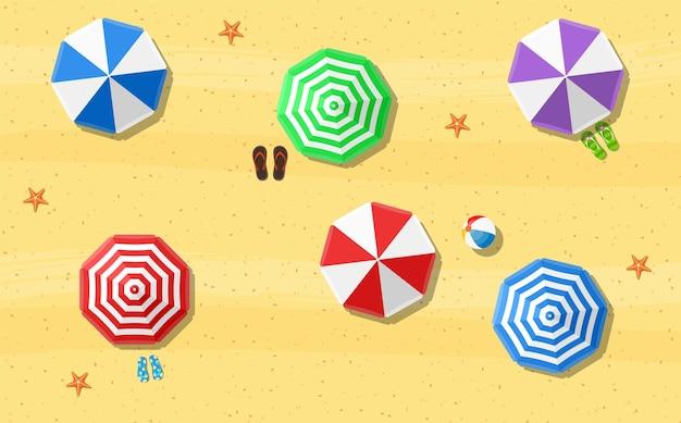 Parasols de plage tongs et plage