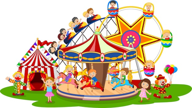 Parc d'attractions de dessin animé