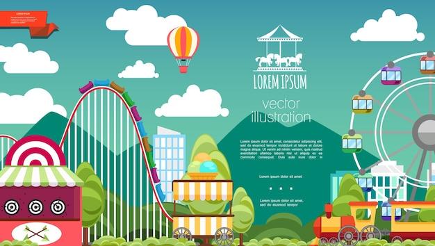 Parc d'attractions plat