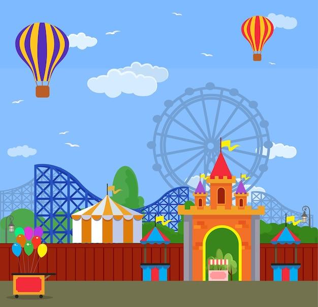 Parc d'attractions.