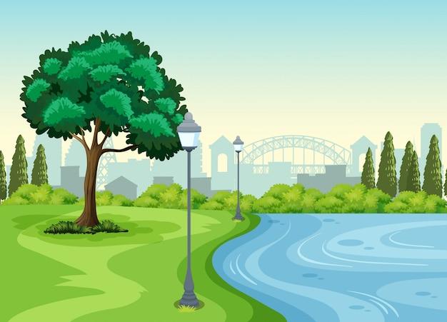 Un parc dans la ville