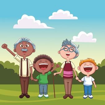 Parc des grands-pères et petits-enfants