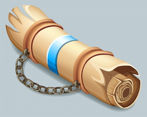 Parchemin royal orné d'une ceinture en cuir.