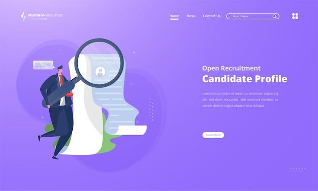 Parcourir les profils de candidats pour le recrutement des ressources humaines