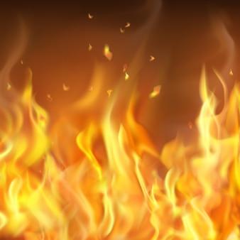Pare-feu brûlant à chaud abstrait