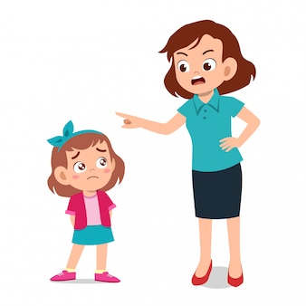 Parent avec l'enfant pleure