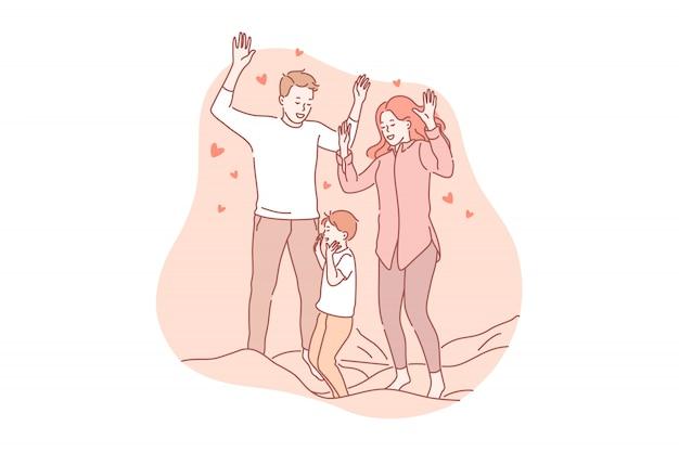 Parentalité, jouer, concept d'amour