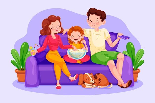 Parents et enfants passent du temps ensemble