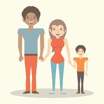 Parents de la famille membre de l'enfant
